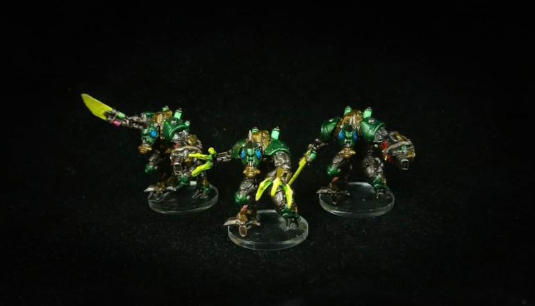 Fuzers and Shocker painted by Paul
