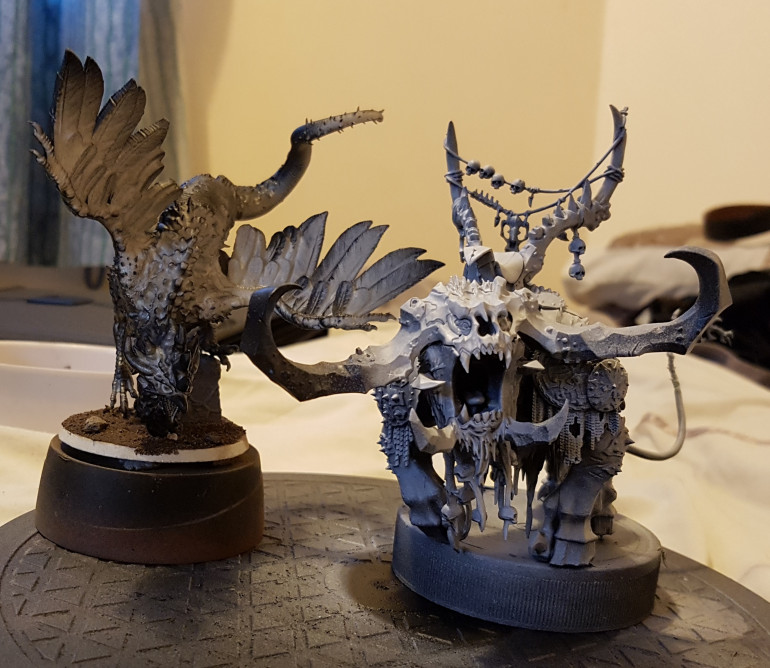 TTCombat Zombie Cockatrice and GW Frosthorn