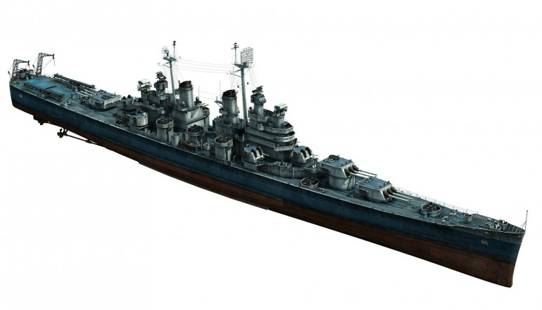 A Baltimore-class heavy cruiser is ordered and on its way