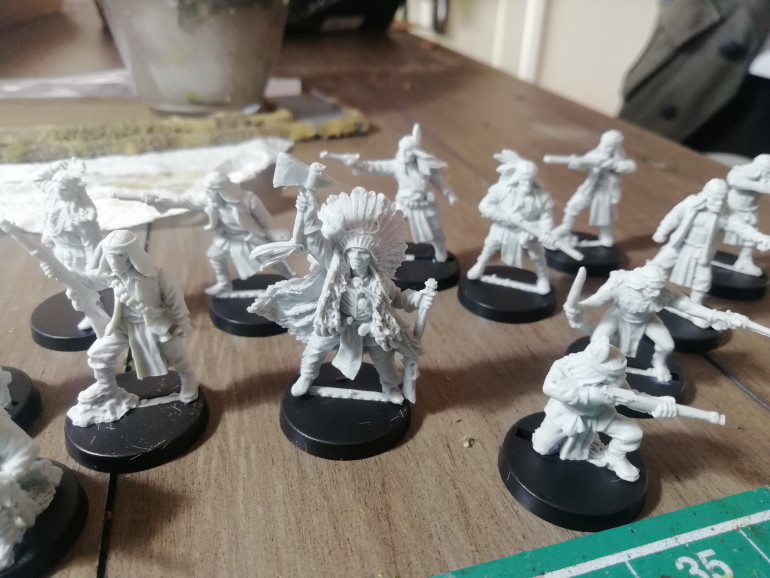 For the old West I finally have some of Black scorpions native American models as s new warband