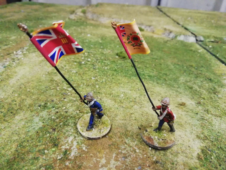 The 3rd regiment of foot had their colours present in Zululand. This is the end of the period of carrying standards into battle so it would be a shame not to represent them