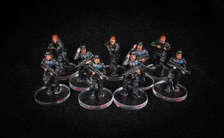 Security Guards painted by Ian