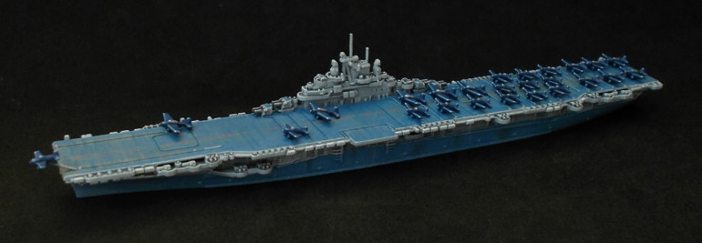 Painting the USS Lexington (CV-16) and putting an air group on her...