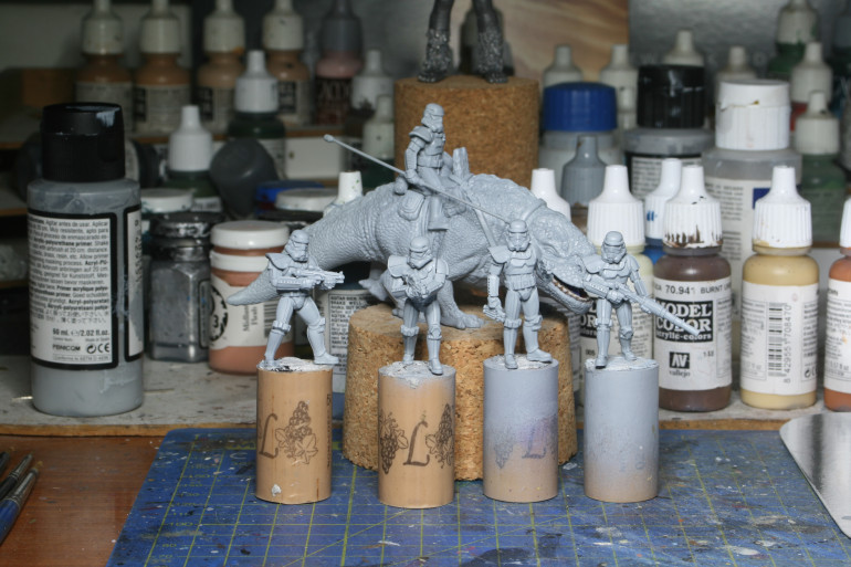 Models cleaned and primed - finally.