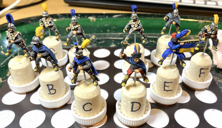 Riders ready for varnishing