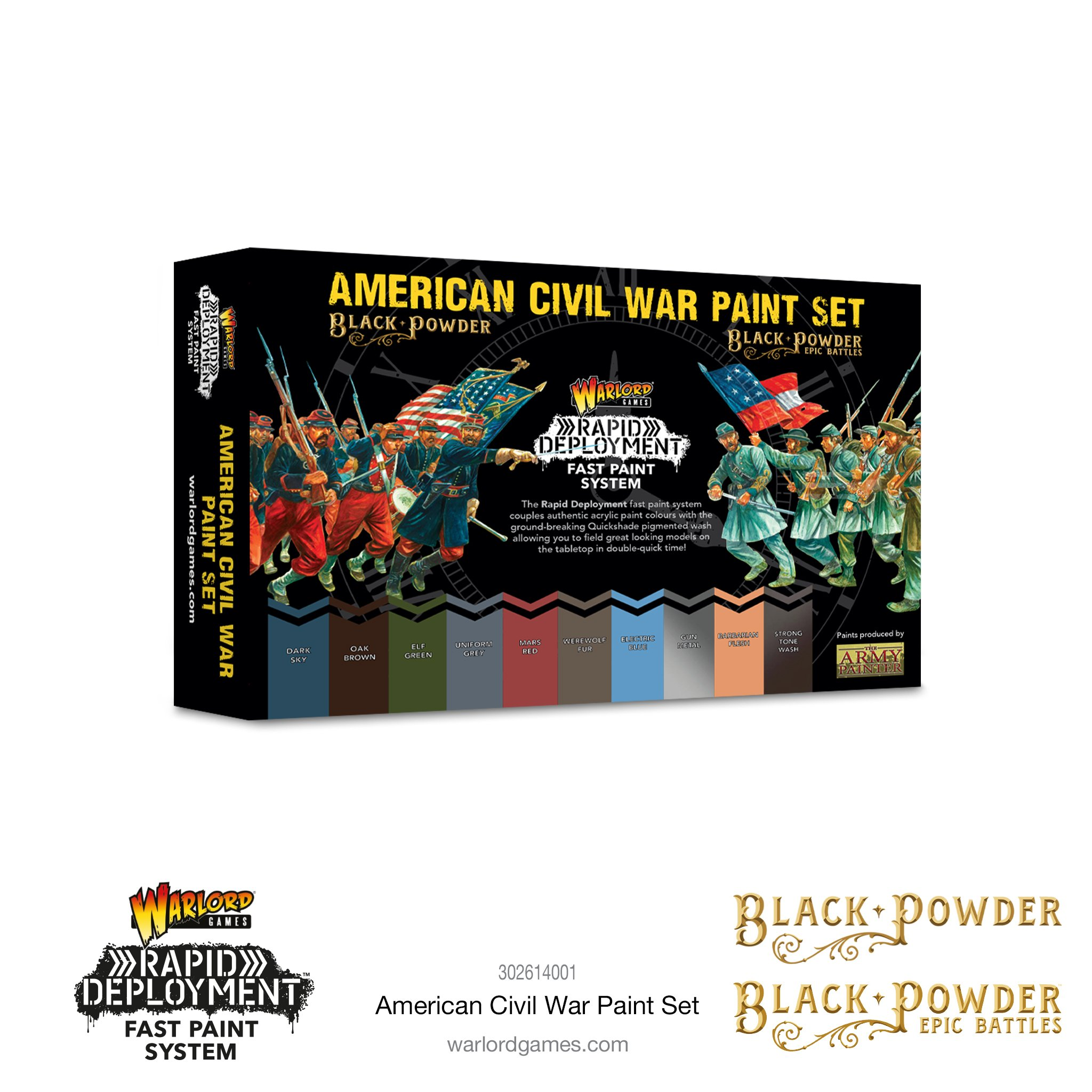 American Civil War Paint Set - Warlord Games