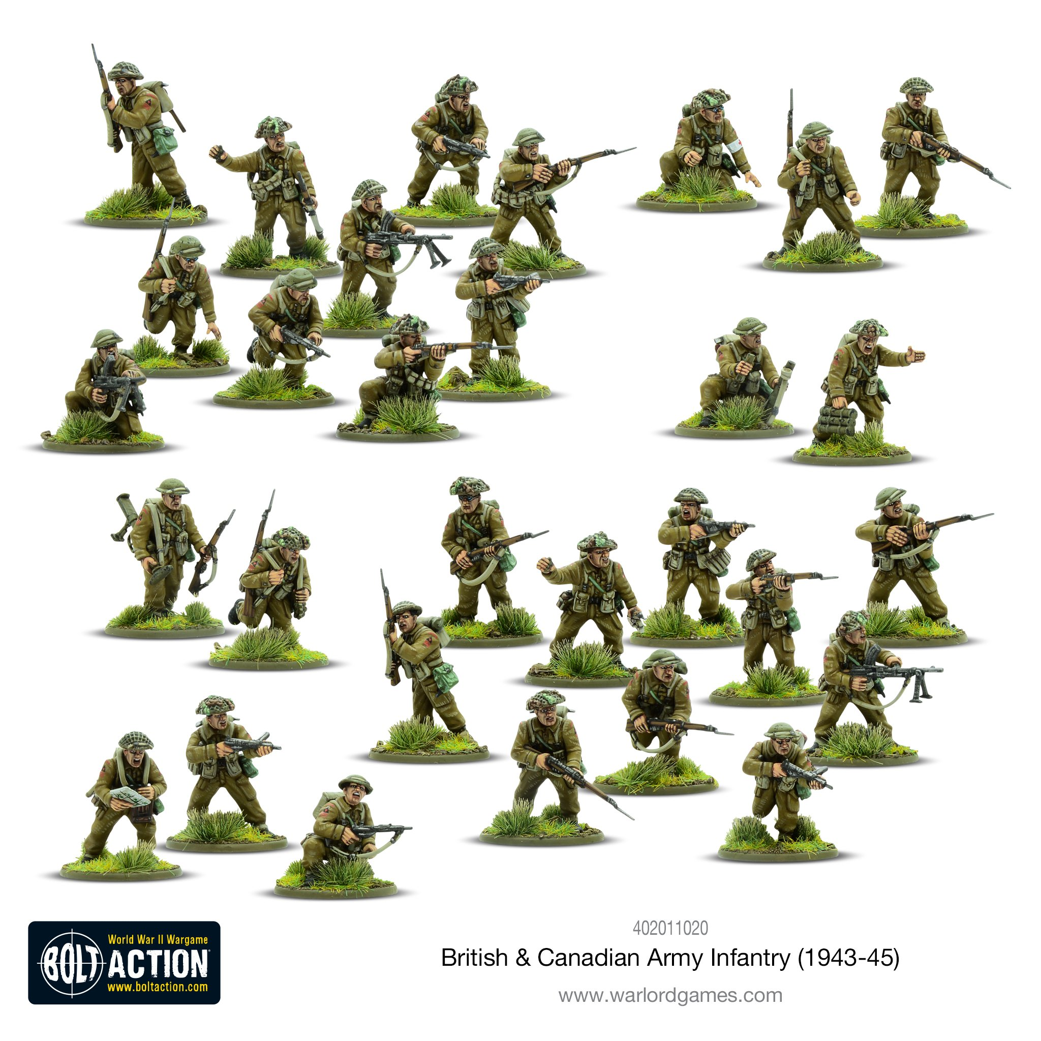 British & Canadian Army Infantry - Bolt Action