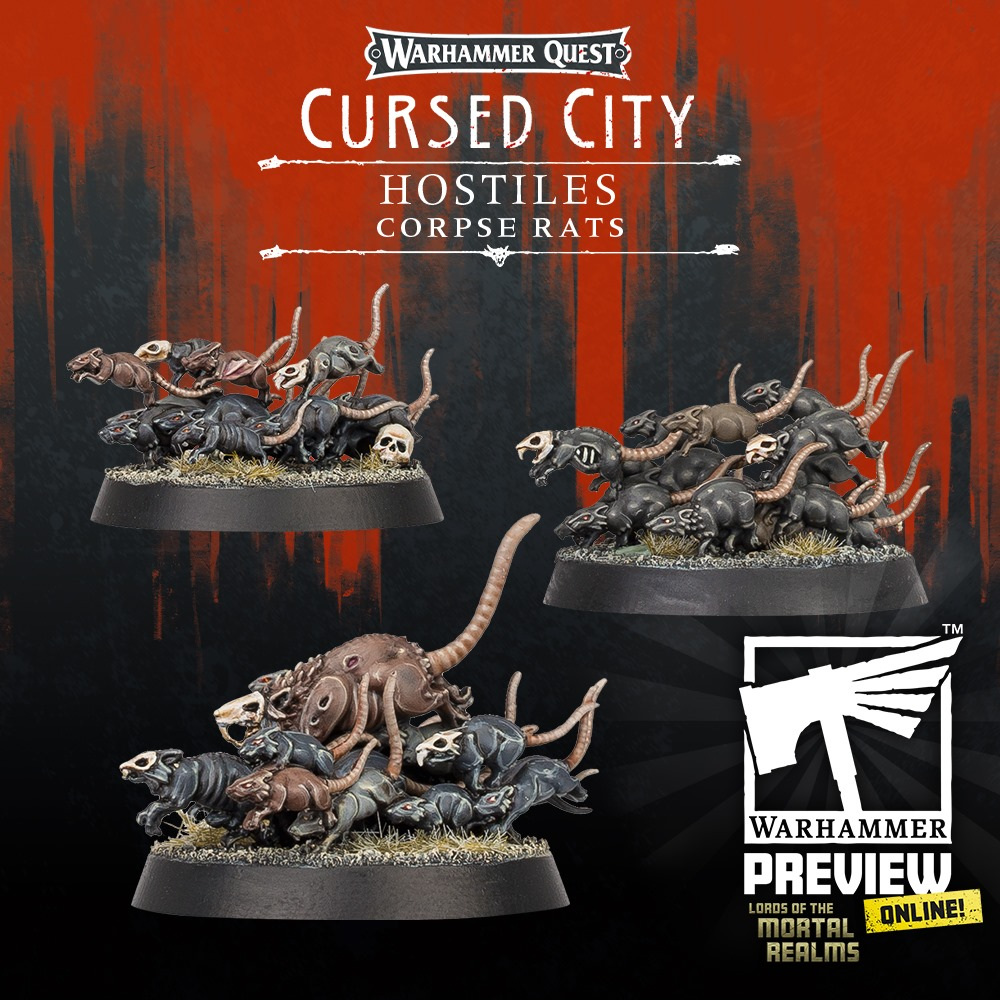 Corpse Rats - Warhammer Quest Cursed City