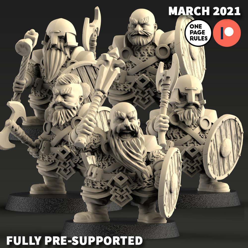 Dwarf Warriors - One Page Rules