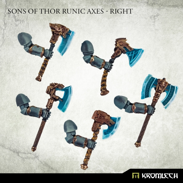 Sons Of Thor Runic Axes Right - Kromlech