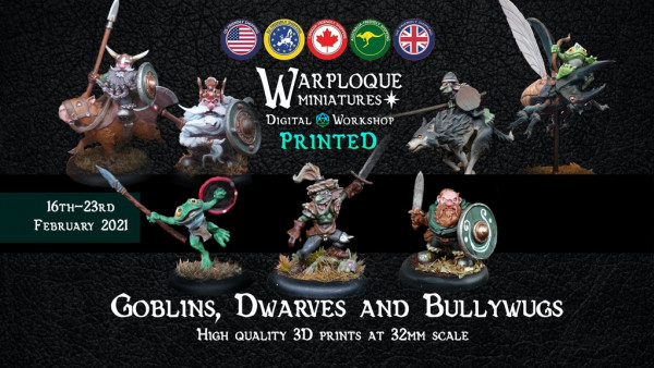 Warploque Kickstart Goblin, Dwarf & Bullywug Warbands!
