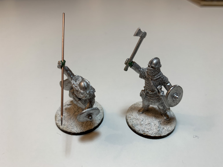 The two nobles. If you look at the figure on the right you can see an attempt at sculpting a thumb.