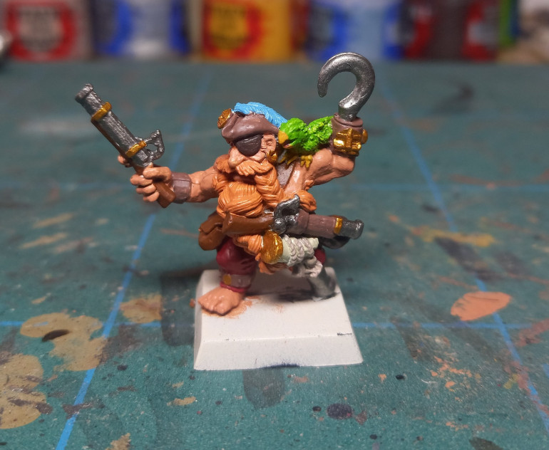 Painting Long Drong Of The Slayer Pirates