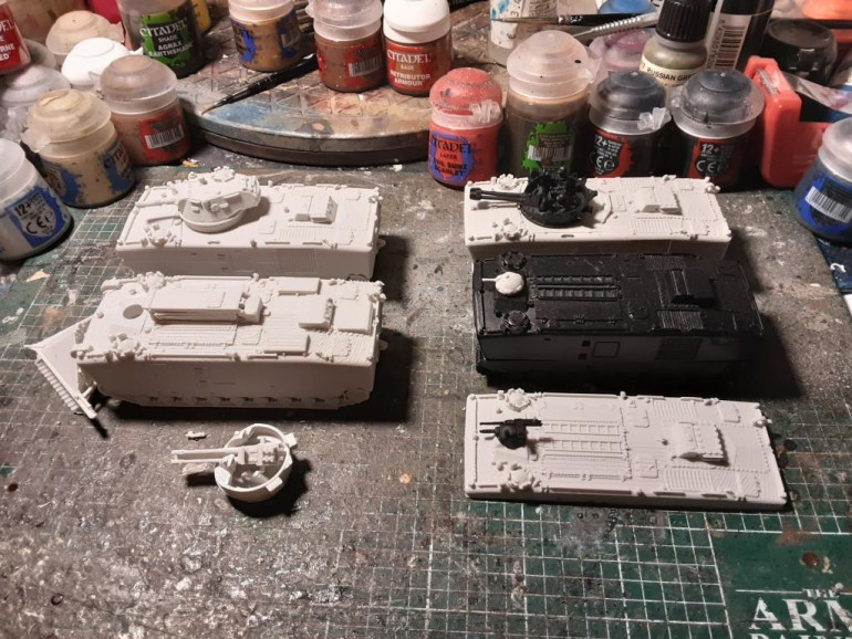 Then i ordered some LVTPs from Butlers Printing. From the scale they suit well with the ones from Battlefront.