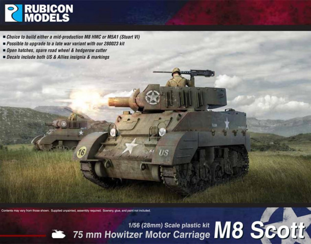 Wanted an M8 just because it's a cool looking adaptation, a brief spell of being useful again to fill a roll as other tanks began to surpass and replace it. I don't need much punch to take on Chi-Ha tanks, but some howitzer delivered HE into big Japanese units will be a good counter.