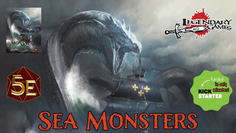 Sea Monsters: 60+ savage creatures of the deep for DnD 5E