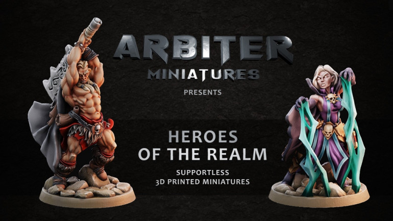 Arbiter Miniatures Kickstarter 3: Heroes of the realm