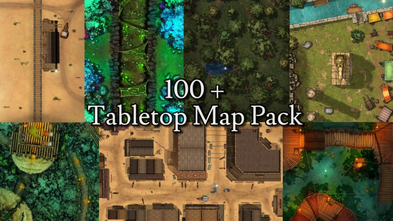 100+ Tabletop Maps for Dungeons and Dragons or any RPG