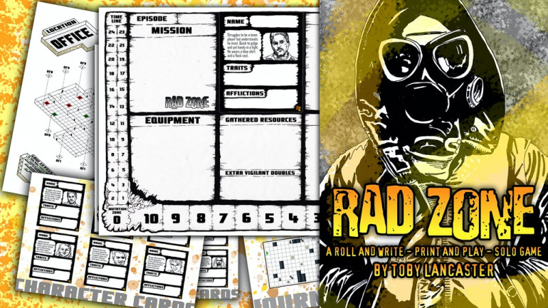 Rad Zone - A Solo, Roll and Write, Print and Play Game