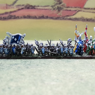 Men-at-arms join their knights.