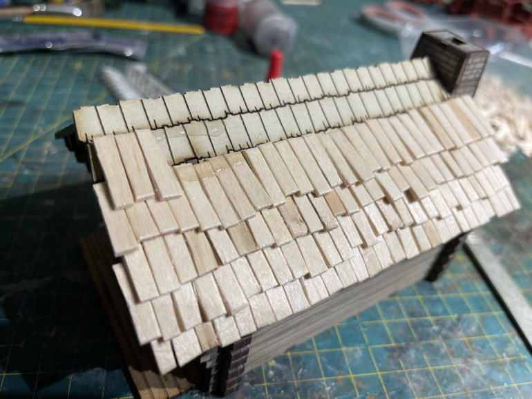 offset each layer for it to work as a roof