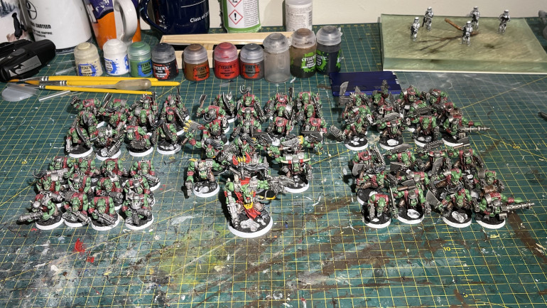 All the troops completed with one warboss