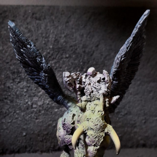 Warlord on Winged Bull, Preparation and Airbrushing