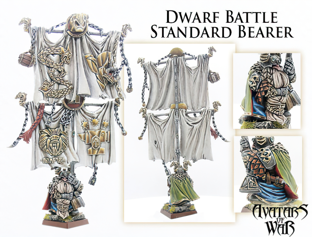 Dwarf Battle Standard Bearer Detail - Avatars Of War-gigapixel-scale-2_00x