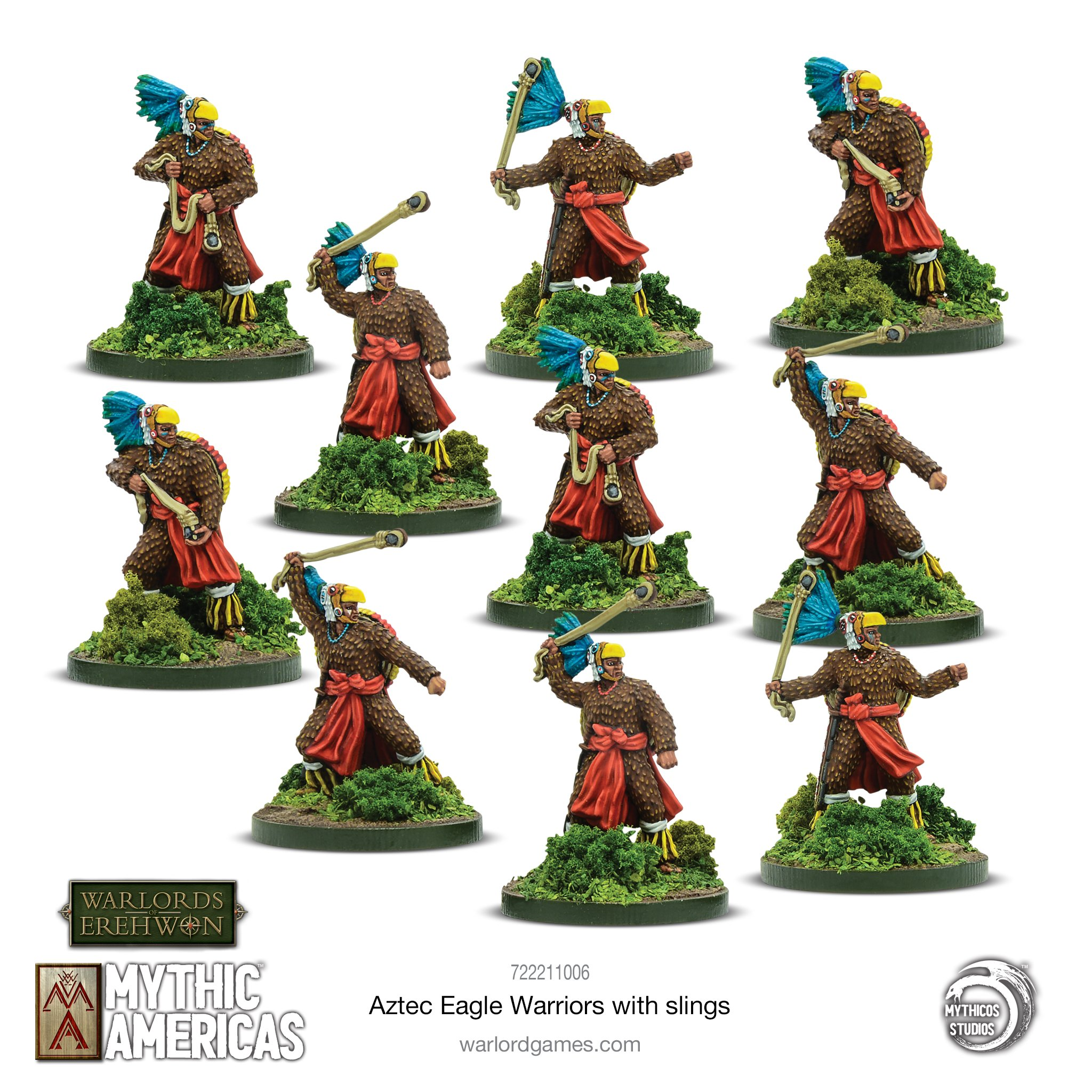Eagle Warriors With Slings - Mythic Americas