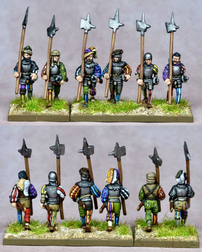 Early 16th Century Landsknecht With Halberds - Khurasan Miniatures