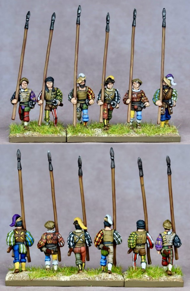 Early 16th Century Landsknecht With Pikes - Khurasan Miniatures