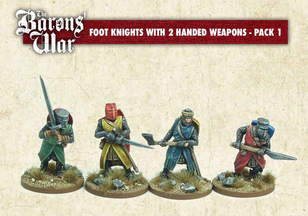 Foot Knights With Two Handed Weapons - Footsore Miniatures & Games