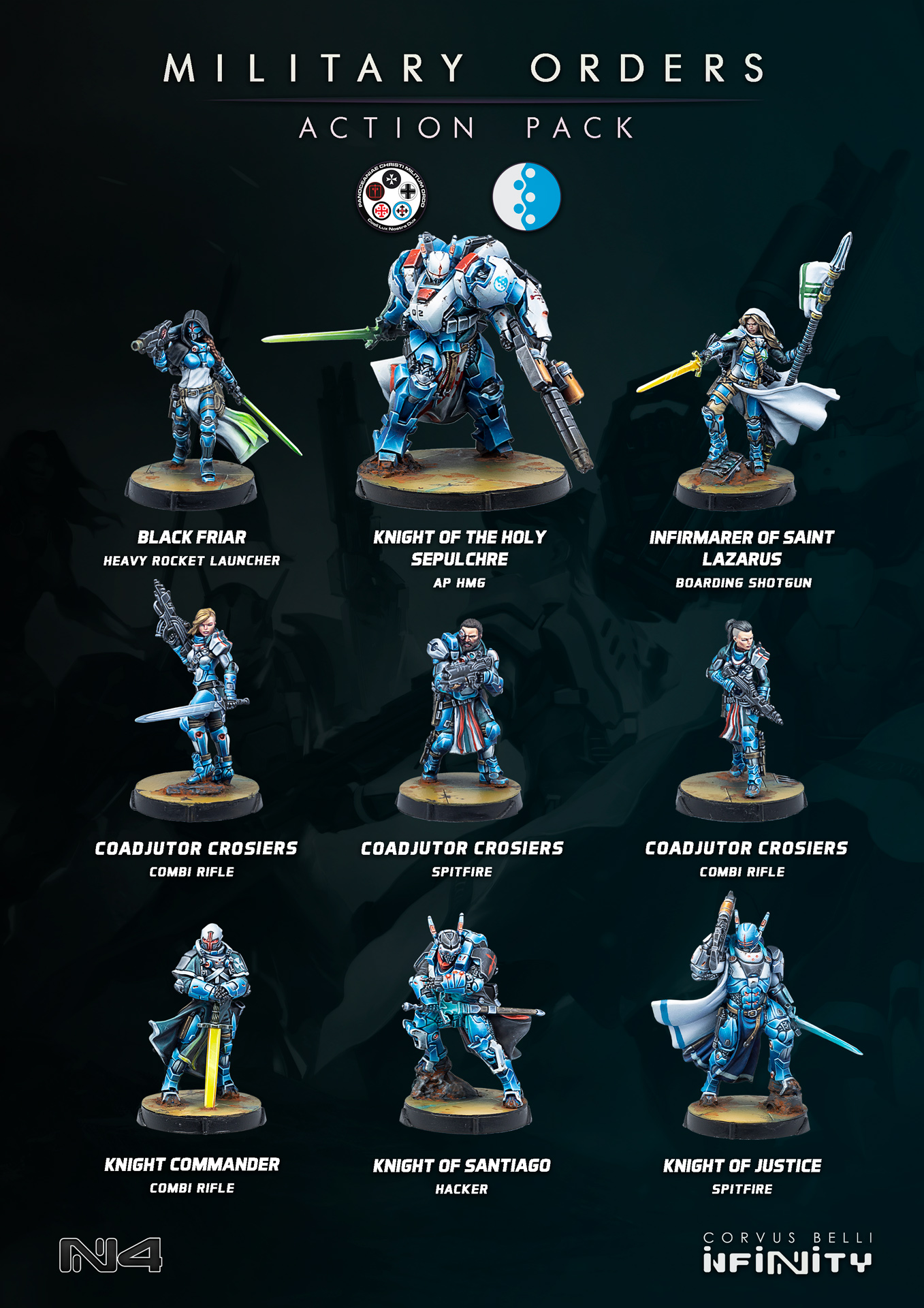 Military Orders Action Pack Miniatures List - OnTableTop OTT