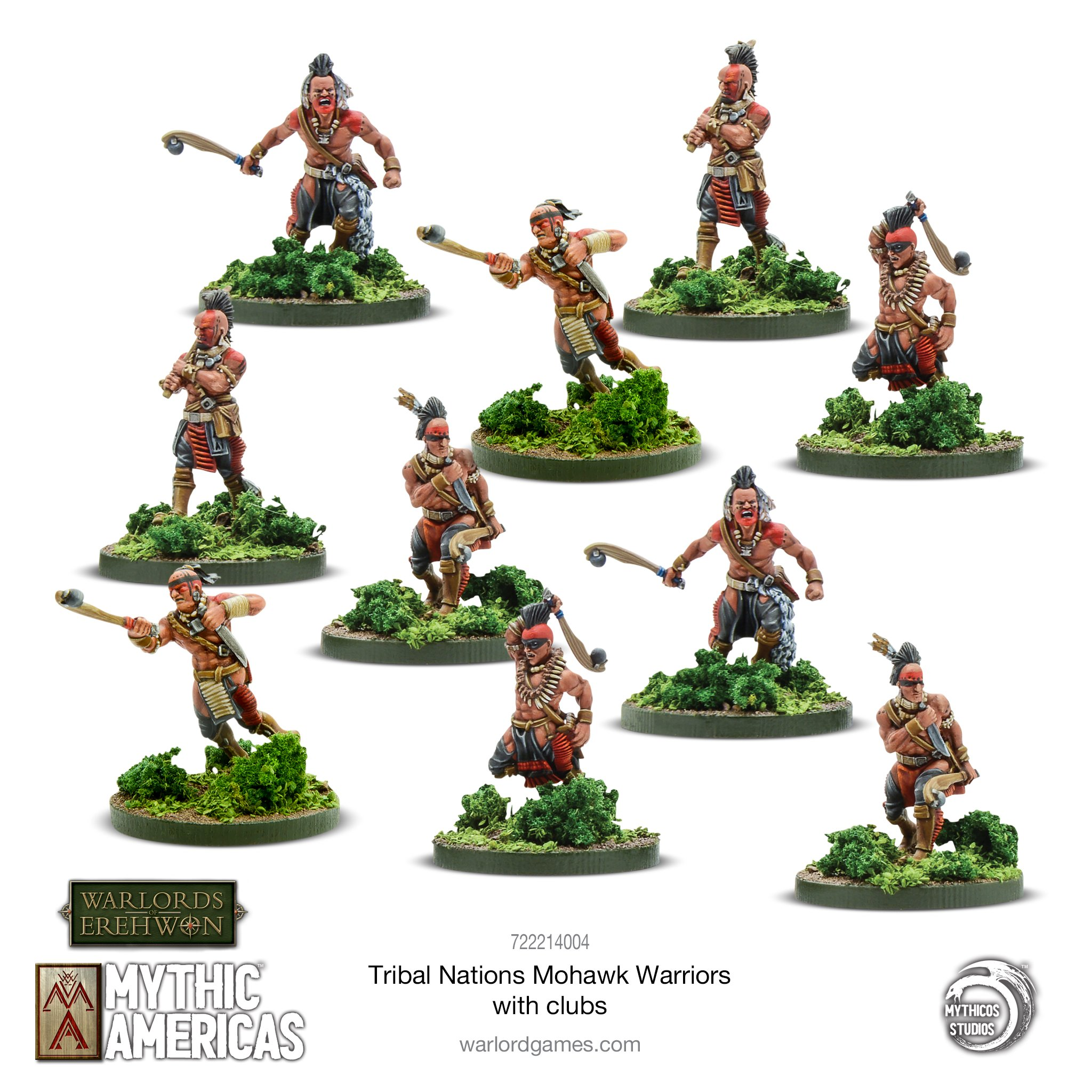 Mohawk Warriors With Clubs - Mythic Americas