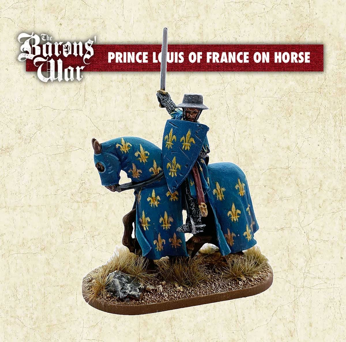 Prince Louis Of France On Horse - Footsore Miniatures & Games