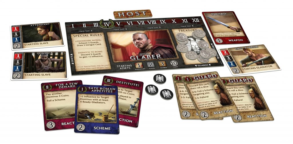 Spartacus A Game Of Blood & Trechery Components - Gale Force Nine