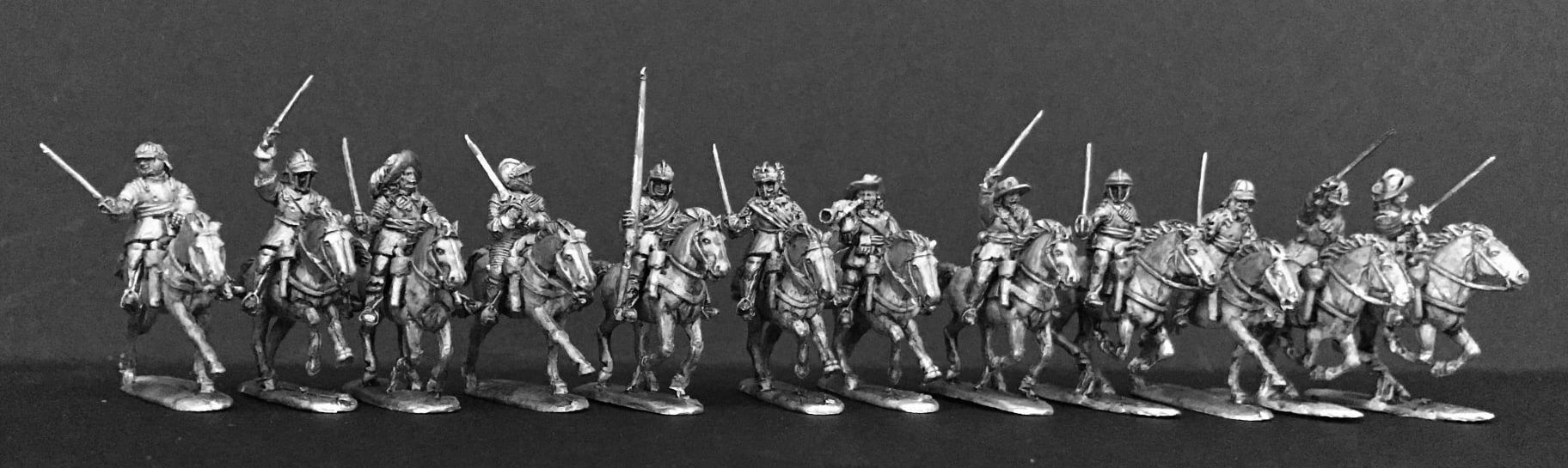 Troop Of Lifeguard Charging - Steel Fist Miniatures