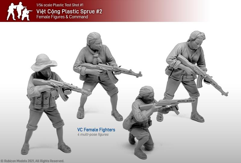 Viet Cong Female Fighters - Rubicon Models