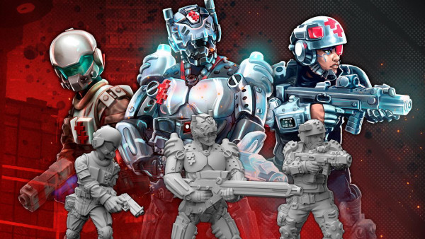 New Cyberpunk RED Trauma Teams & Zoner Miniatures!