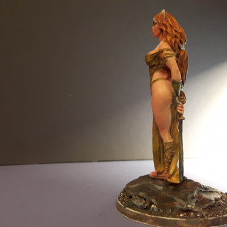 Challenge 2: Painting Aphrodite using the Zorn Limited Palette technique: