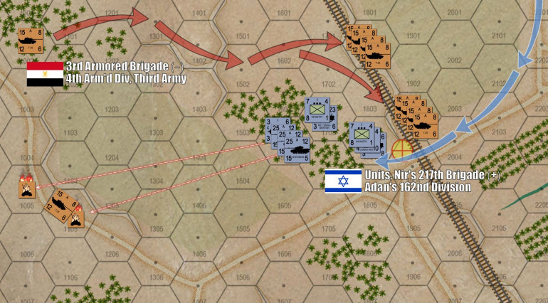 Oriskany loses his first T-55 platoons, but maneuvers the rest in a way that will leverage Damon's 15