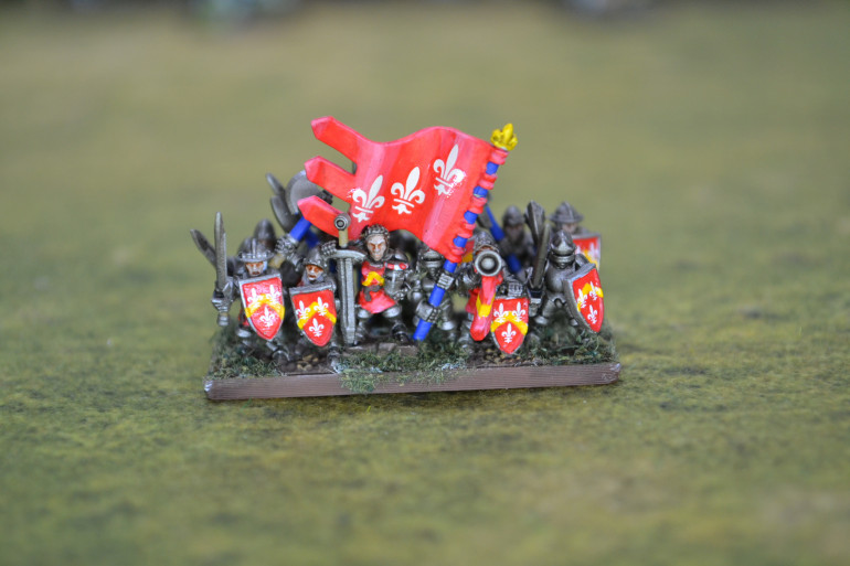 Now I have some decals from http://www.3vwargames.co.uk/ I have added to the banner for the second MAA unit and also added decals to their shields.