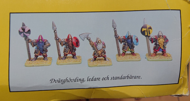 Dwarves in color, notice the use of the shield as a banner