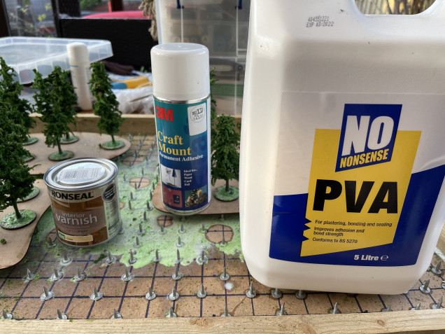 for larger terrain it keeps it from the base and allows PVA to run off easily