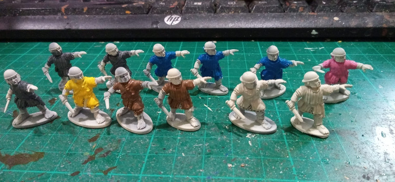 Here are some new additions. These were built and undercoated in storage but it felt good to get some paint on them