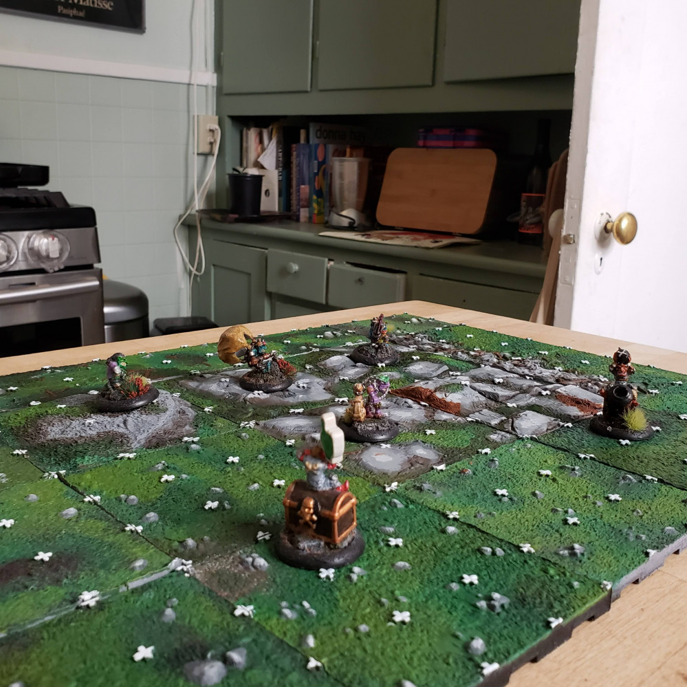 Blood Bowl Blitz  3D printed board