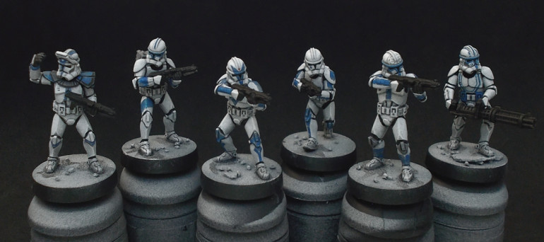 Painting the first squad - almost there...