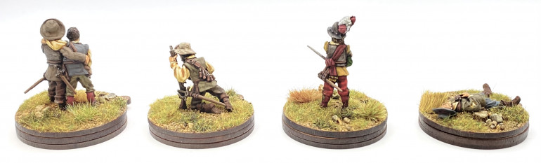Rear view of the casualty bases.