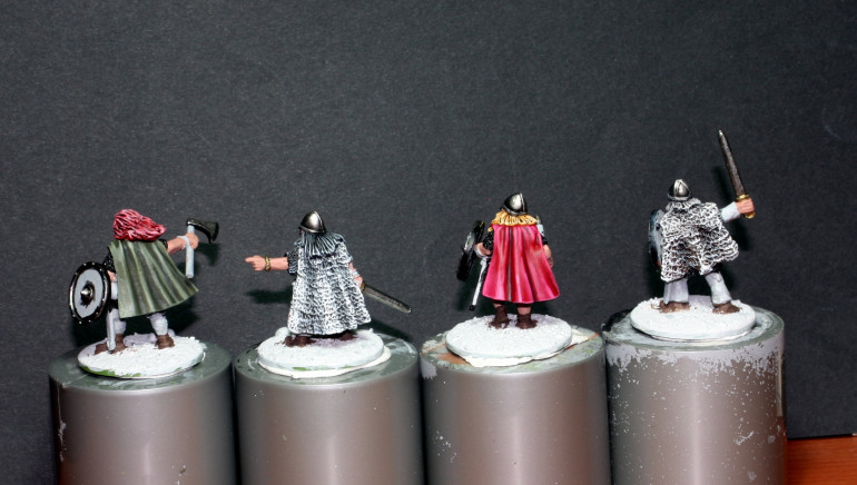 I also managed to do the capes and furs besides the faces.