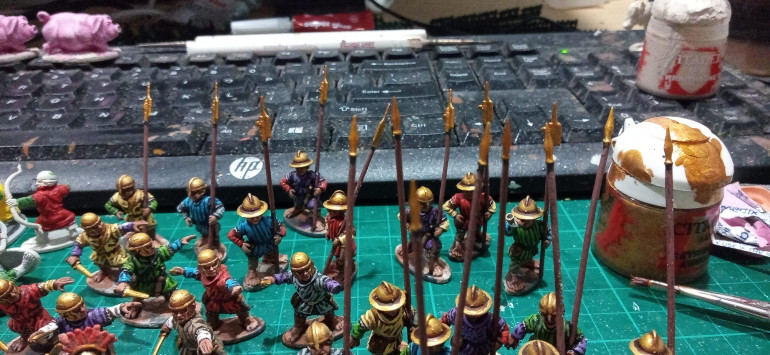 Although as you can see here I have redone the weapons in bronze, They just need a wash